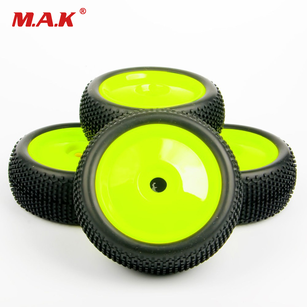 1:8 Car Parts And Accessories Off-Road Ruber Tire Wheel Rim 4PCS 17mm Hex For HPI HSP RC Buggy Racing Car Tyres universal replacement plastic tire w wheel rim hub for 1 10 on road model cars black 4pcs