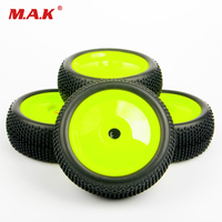 1:8 Car Parts And Accessories Off Road Ruber Tire Wheel Rim 4PCS 17mm Hex For HPI HSP RC Buggy Racing Car Tyres