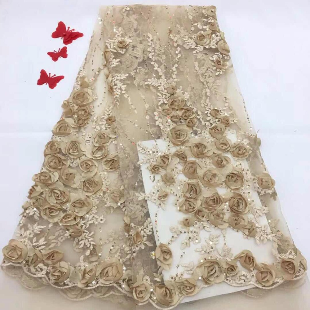 Latest African 3d Flowers Tulle Lace Fabric 2018 Plenty Handmade Beads With Sequins Tulle Lace Fabric For Women Dress(FJ18-10Latest African 3d Flowers Tulle Lace Fabric 2018 Plenty Handmade Beads With Sequins Tulle Lace Fabric For Women Dress(FJ18-10