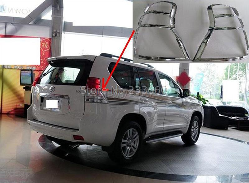 Fit For Toyota Land Cruiser Prado FJ150 2010-2013 Chrome ABS Taillight Cover Rear rear Lights Lamp Cover Trim купить