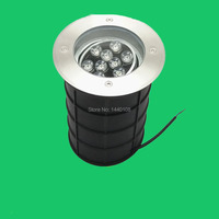 (5pcs/lot) Adjustable Angle 9w Dimmable IP68 12V Waterproof LED Underground Deck Light Lamp,Recessed LED Inground Floor Lighting