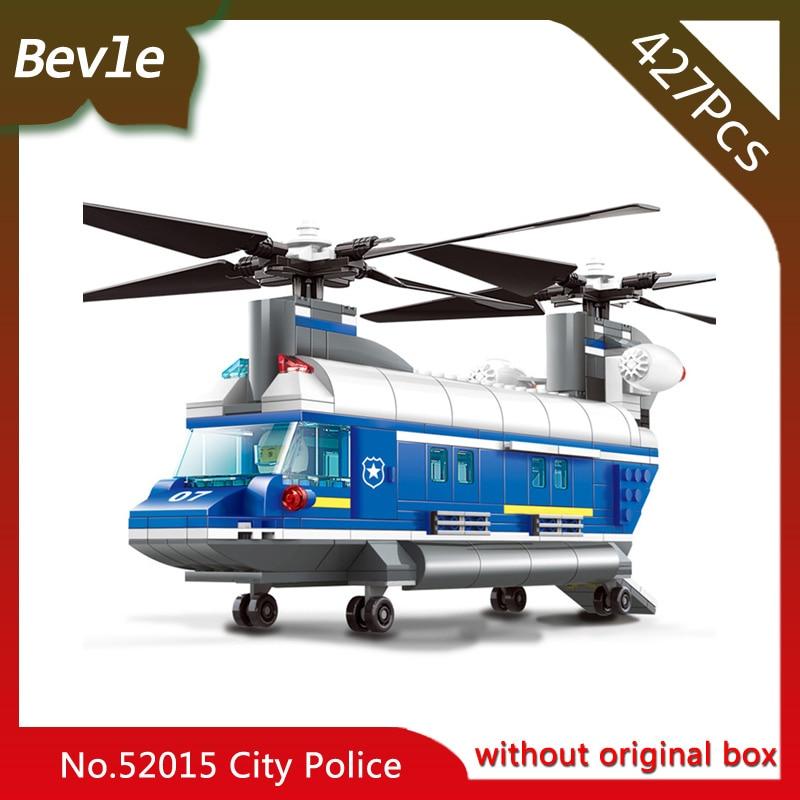 Bevle Store LEPIN 52015 427Pcs CITY Series Police Transport Aircraft Building Blocks set Bricks For Children