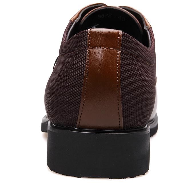 BIMUDUIYU Business Men's Basic Flat Super fiber Leather Gentle Wedding Dress Shoes Luxury Brand Formal Wearing British Big Size