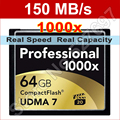 150MB/s Brand 1000x 128GB UDMA 7 CF CompactFlash Memory Card For Canon Nikon DSLR Camera 1080p image Full HD 3D Video Camcorder