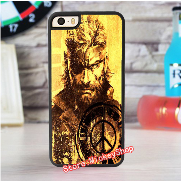 PEACE WALKER LOGO metal gear solid fashion cover case for iphone 4 4s 5 5s 5c for 6 & 6 plus 6S & 6S plus 7 7 plus #qj139