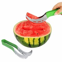 Stainless Steel Cut Fruit Watermelon Cutter Portable Party Supply Fast Slicer Smart Kitchen Cutting Tool Random Color