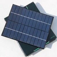 Comercio al por mayor 5 w 12 v célula solar módulo solar policristalino diy sistema de paneles solares 165*210*3mm 10 unids/lote envío de la alta calidad