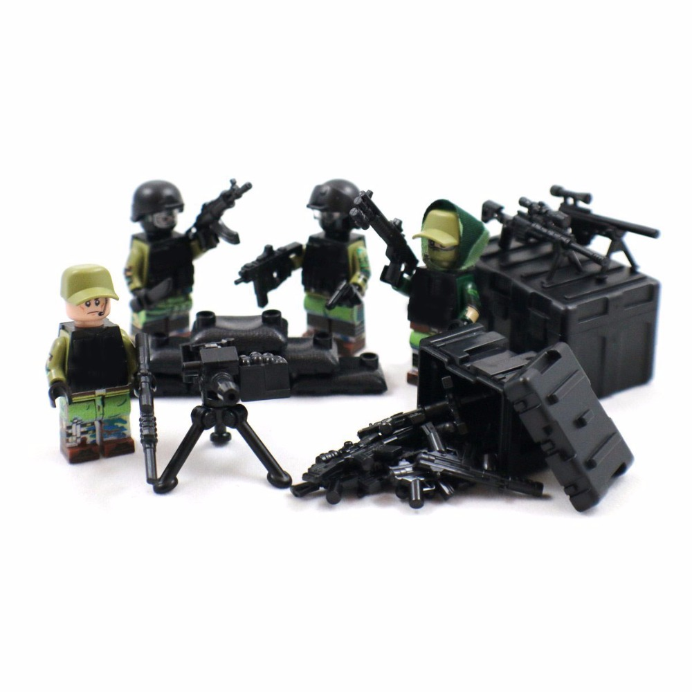 Moc Custom Rare Military Series Third Party Weapons Pack For Swat