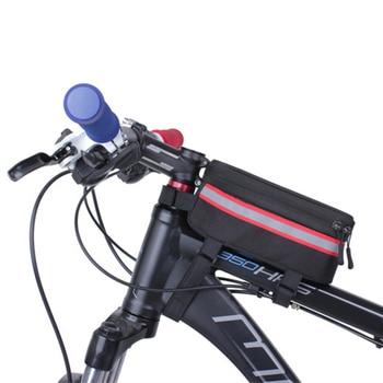 63f5371c515 Bolso de bicicleta, marco de bicicleta, teléfono móvil, bolsos, funda,  accesorios para montar, ...