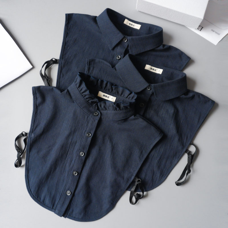 Detachable Lapel Shirt Fake Collar Fashion Black&White False Blouse Leopard Shirt Omen Lady Detachable Decorative Collar Retro