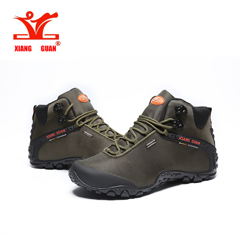 ФОТО XIANGGUAN 2017 NEW Suede Mountain male Climbing Camping Shoes Hiking Boots Outdoor Sneakers Trekking Walking Waterproof Shoes
