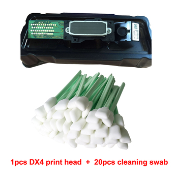 Original Inkjet Printhead+20 pcs Cleaning Swab For Epson Mutoh Mimaki Roland DX4 Eco Solvent