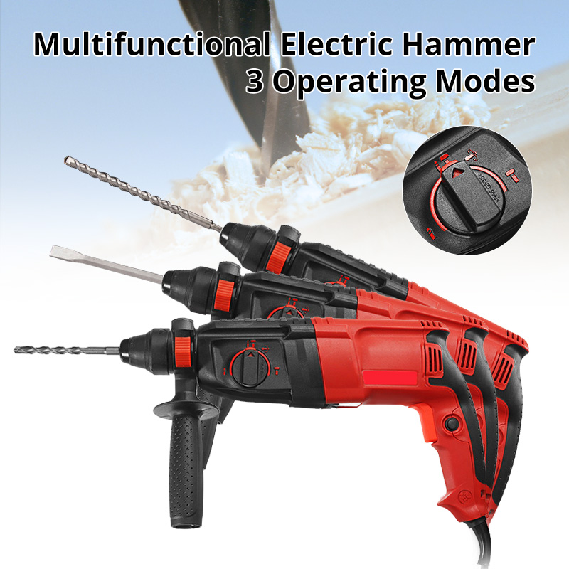 220V 780W 28mm 50Hz Impact Drill Electric Hammer Drill Breaker 3 Operating Modes Power Drill Woodworking Power Tool цена