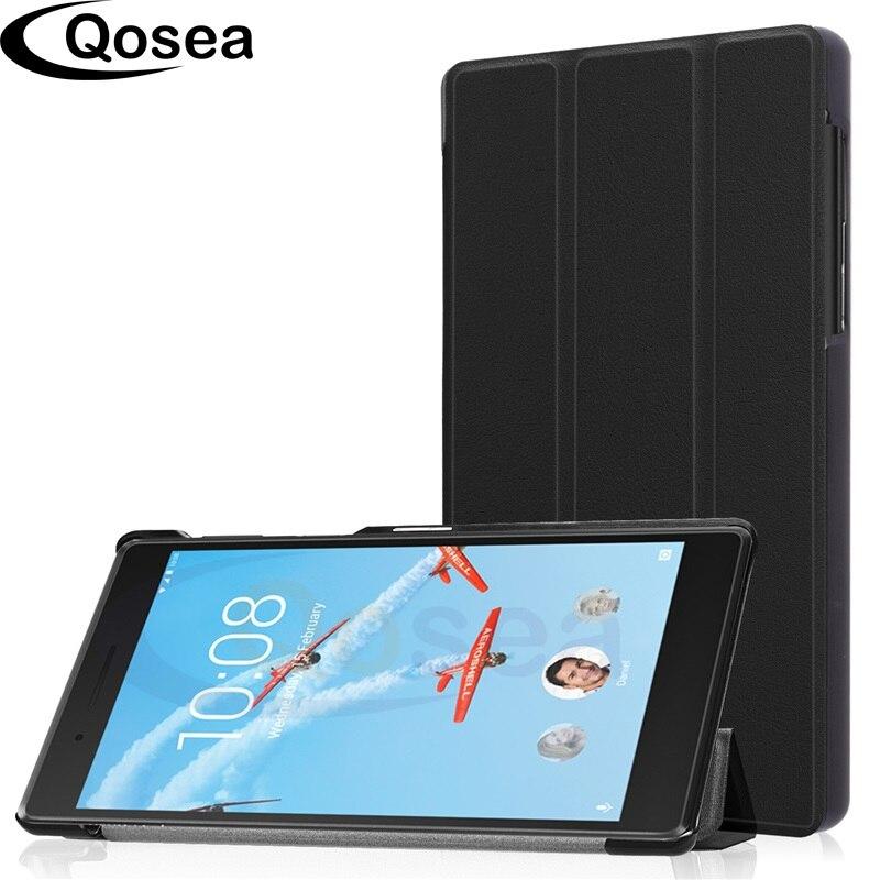 Qosea Pour Lenovo Tab4 7 TB-7504 TB-7504F 2017 7 pouce PU En Cuir Smart Cas de Stand Pour Lenovo Tab 7 TB-7504X Tablet PC Couverture de Stand