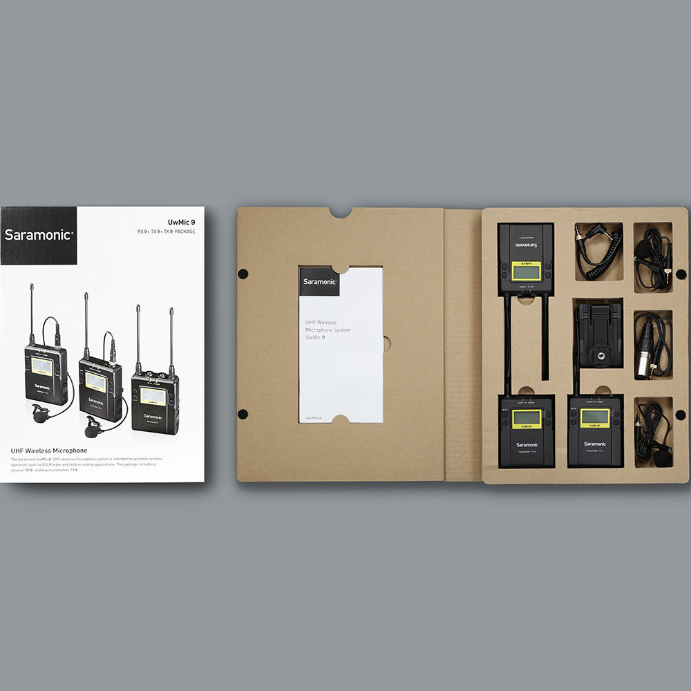 Saramonic UWMIC9 Broadcast UHF Kamera Wireless Lavalier mikrofon Mikrofon System Sender + Einen Empfänger für DSLR Camcorder - 5