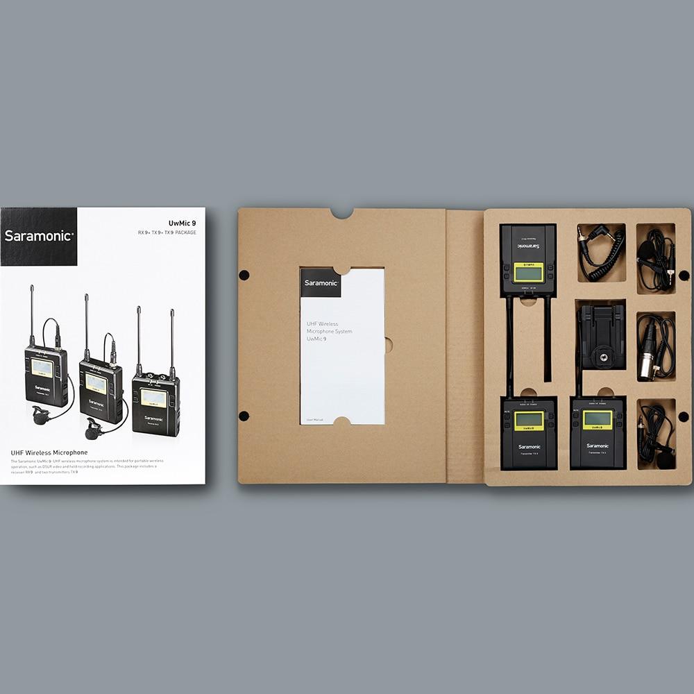 Saramonic UWMIC9 Trasmissione UHF Macchina Fotografica Senza Fili Microfono Lavalier Sistema Trasmettitori + Un Ricevitore per la Videocamera Portatile DSLR - 5