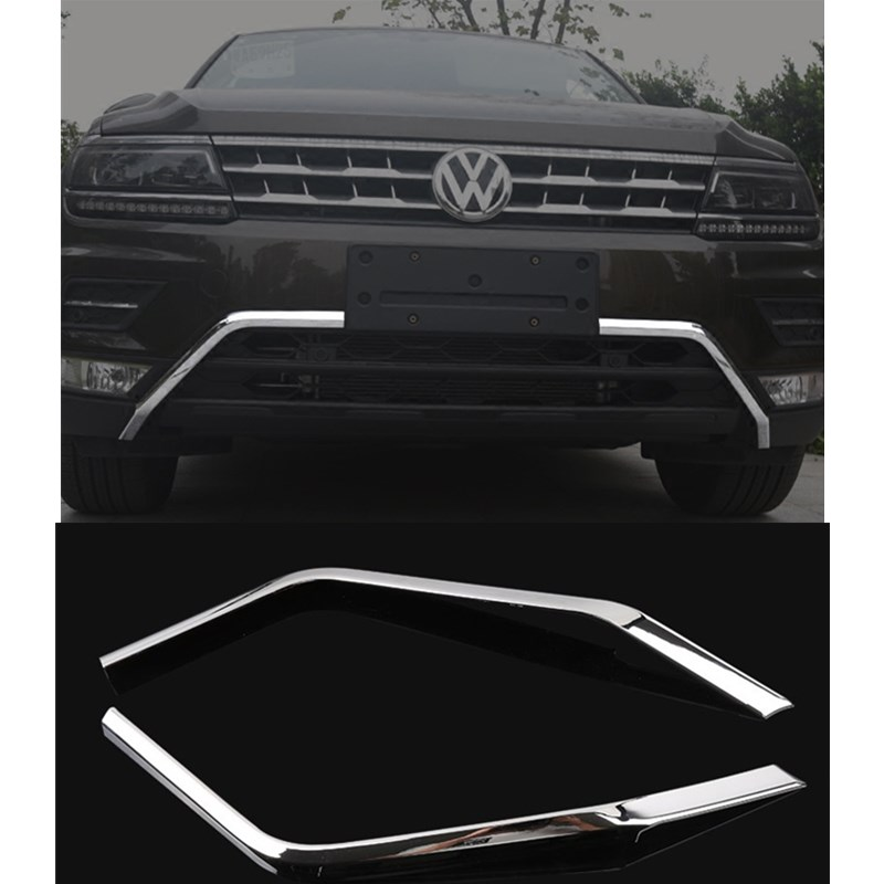 car head abs trim for vw tiguan L 2017 exterior decoration hot sale abs chromed front behind fog lamp cover 2pcs set car accessories for volkswagen vw tiguan 2010 2011 2012 2013