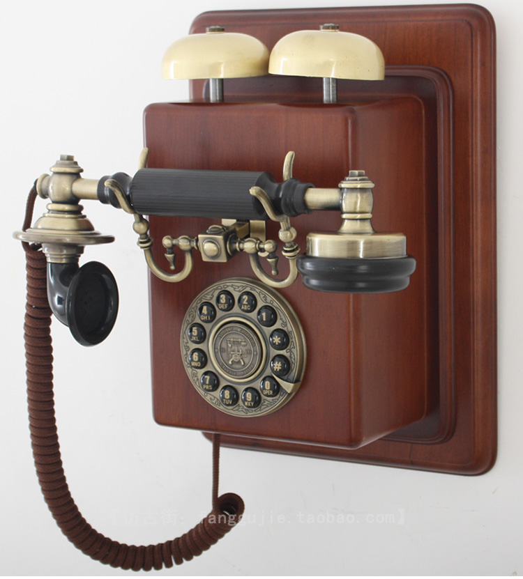 Antique Antediluvian Technology Telephone Vintage Wall
