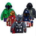 JW-066 Retail 2016 the Avengers Iron Man kids hooded sweatshirt boys coats children outerwear baby clothes free shipping