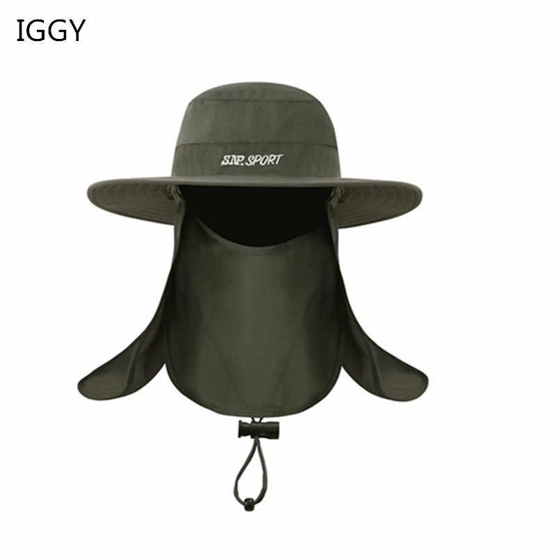92032ea0fa1c2 IGGY Unisex Sport Bucket Hat Waterproof Outdoor Fishing Cap Hunting Hat Men  Women Fisherman Sports Cap