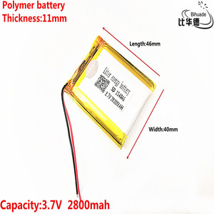 Image 4 - 3.7V 2800mAh 114046 Lithium Polymer Li Po li ion Rechargeable Battery cells For Mp3 MP4 MP5 GPS