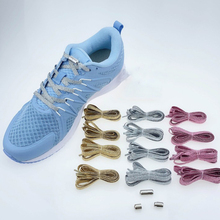 1 Pair Lazy Shoelaces Free Tie Shoes Laces Stretch Sports Run Elasticity Shoelaces Fashion Hot Lazy Shoelace Blue Green Laces cheap 1 pair 100cm shoelace flat popular sports shoes laces casual canvas polyester shoelaces candy color white green shoelace