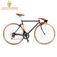 Дорожный велосипед фиксированная передача велосипед 700C винтажная фиксированная передача велосипедная дорожка 14 скоростей Дорожный велос