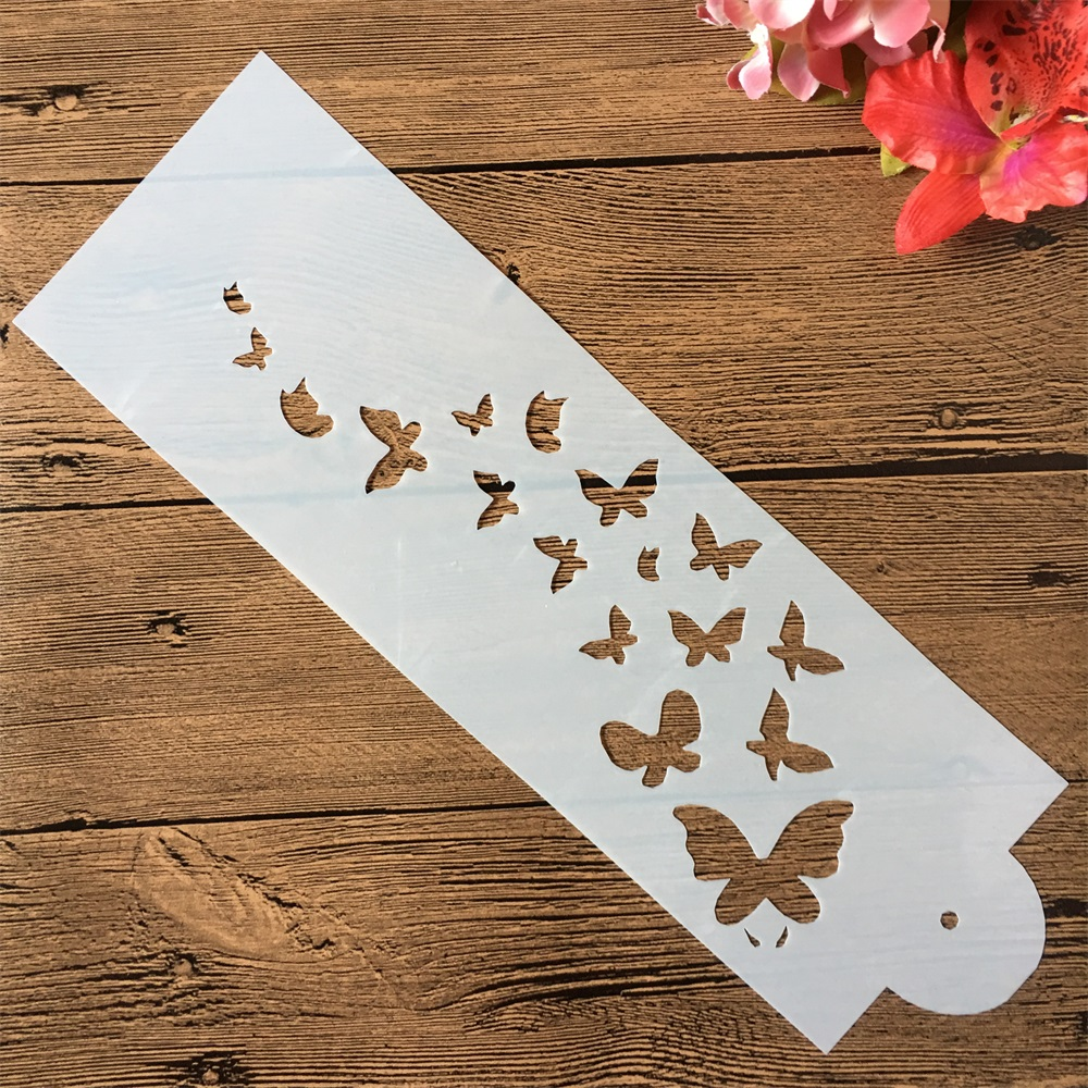33*10cm Butterflies DIY Craft Layering Stencils Painting Scrapbooking Stamping Embossing Album Paper Card Template