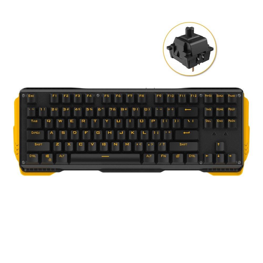87 ключей Механическая игровая клавиатура с переключатель gateron двойной цвет впрыска keycap мультимедийные Ключи USB проводной ноутбук PC Клавиат...