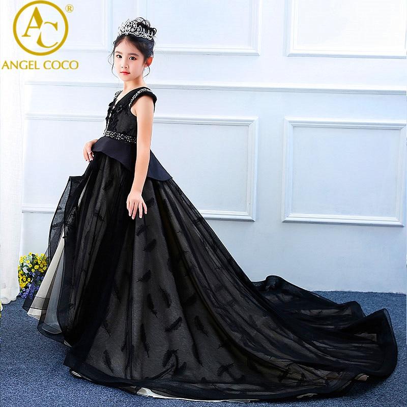 Luxury Princess Flower Girl Dress Summer Tutu Wedding Birthday Party Dresses For Girls Children's Costume Teenager Prom Designs цена и фото