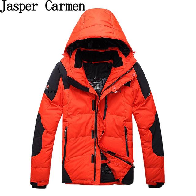 Frete grátis para baixo do homem jaqueta patchwork zipper ocasional outerwear acolchoado casaco de inverno dos homens Tamanho M-XXXL 4 cores