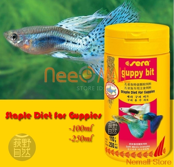 Sera Guppy Bit Floating Staple Diet For All Guppies Fish And Small Fish ...