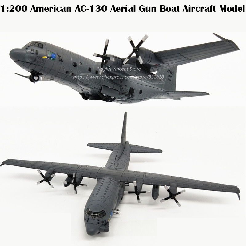 rare Special Offer 1:200 American AC130 Air Gun Boat Transport plane Alloy Military Model Collection image