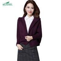 2019 autumn women loose hooded sweater women Coat Jacket Casual cardigan Batwing Long Sleeve Sweater Plus Size M 3XL OKXGNZ A323