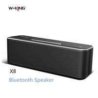 W-King Super Bass Bluetooth Speaker X8 Wireless Dual Driver Portable Aluminum Alloy Surface Music Boombox TOP Sound APP Speaker