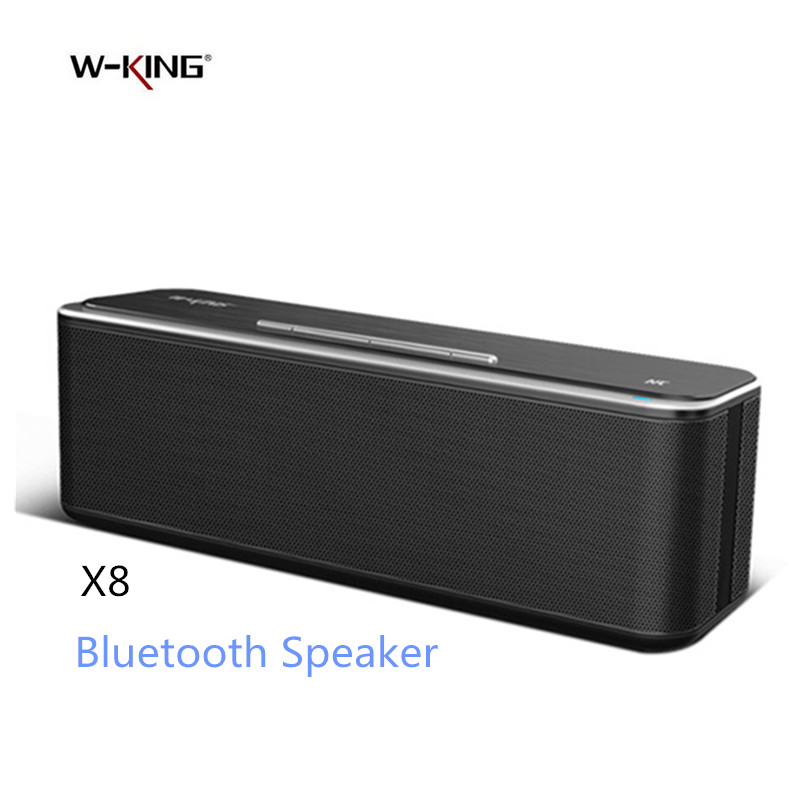 W King Super Bass Bluetooth Speaker X8 Wireless Dual Driver Portable Aluminum Alloy Surface Music Boombox TOP Sound APP Speaker