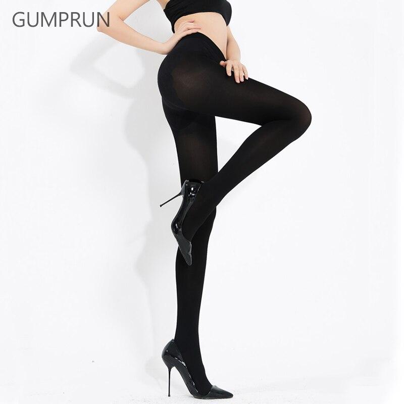 Gumprun mujeres transpirable sexy pantyhose nylon elástico sin ...