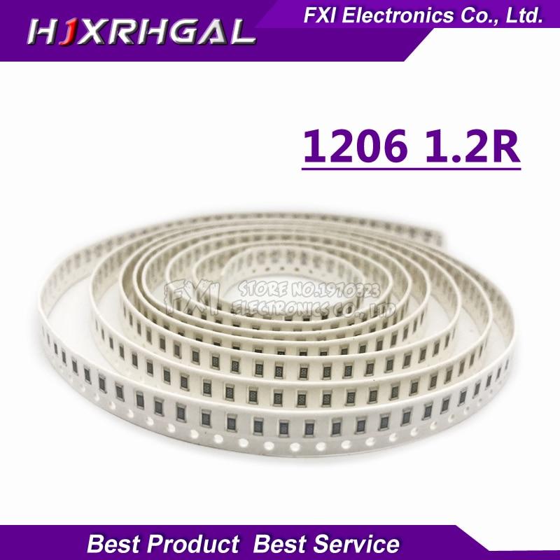 100PCS 1206 SMD Resistor  1.2 ohm chip resistor 0.25W 14W 1.2R 1R2 new original