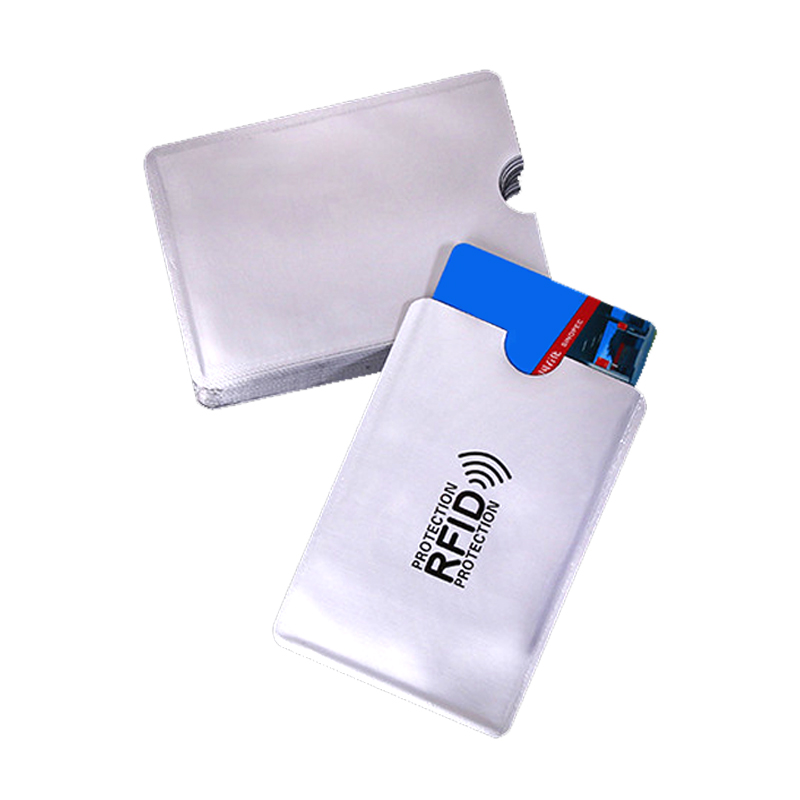 1 Piece Anti Rfid Wallet Blocking Reader Lock Bank Card Holder Id Bank Card Case Protection Metal Credit Card Holder Aluminium(China)