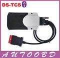 Mais barato!!! 2015. R1/2014. R2 TCS CD CDP PRO (Placa azul PCB Dupla) não Bluetooth + Caixa Da Caixa de Auto Scan Ferramenta de Reparo Do Caminhão Do Carro Do OBD