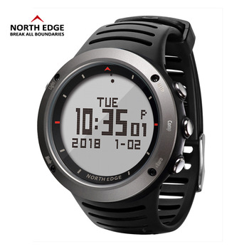 NORTH EDGE Men's sport Digital watch Hours Running Swimming sports watches Altimeter Barometer Compass Thermometer men