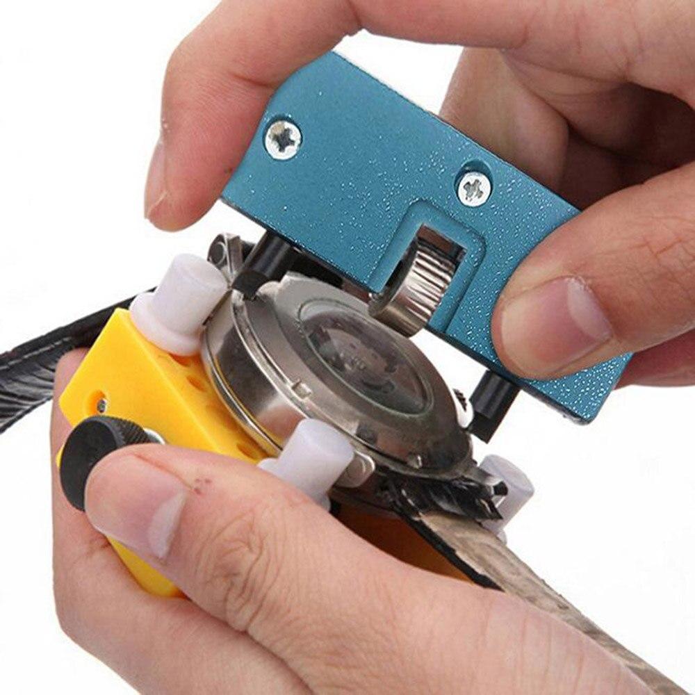 멋진 직사각형 시계 뒤로 케이스 커버 오프너 리무버 렌치 수리 키트 도구 실용적인 시계 수리 도구
