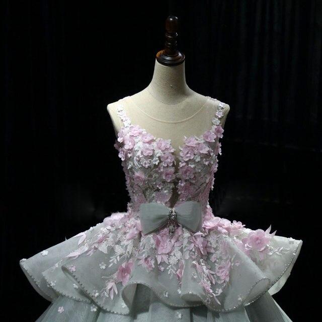 Online Shop Dreamy Flower Princess Wedding Dresses 2017 Luxury ...
