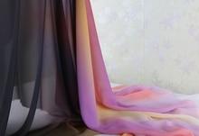 new arrive imitated silk fabric 100d chiffon colorful gowns dress material gradual chiffon fabric sheer