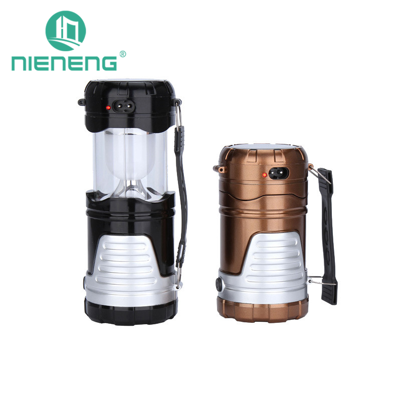 Nieneng LED Ultra Bright Solar Portable Lamp Fishing Lanterns Flashlight Camping Tent Lights Emergency Lighting ICD90088 led solar powered portable lanterns rechargeable outdoor emergency camping lantern lamp tent top hook lighting