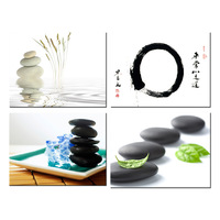 Home Decor Canvas Wall Art Orchid With Black Spa Zen Stone Bamboo Modern Painting Giclee Printing