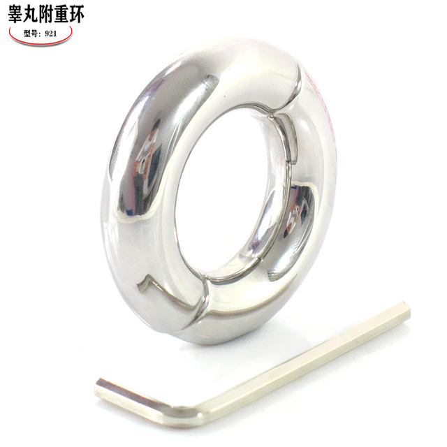 top cock ring stainless steel penis ring chastity device penis extension scrotum ring ball scrotum stretcher sex toys for man