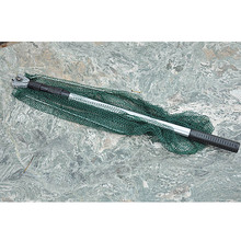 Triangular Brail Folding Fishing Net Landing Net Aluminum 3 Section Extending Pole Handle