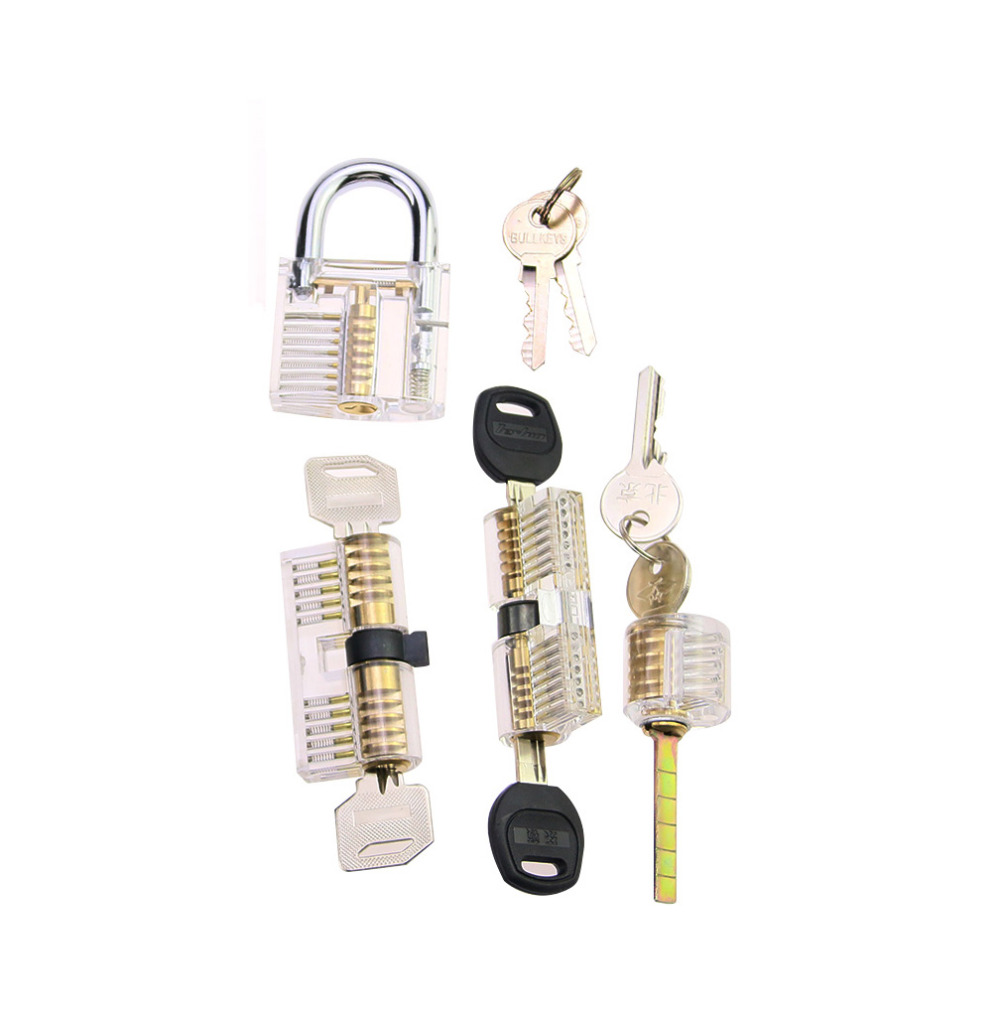 Free Shipping 4pcs Locksmith Practice Lock Cylindet Set for Beginner TrainingFree Shipping 4pcs Locksmith Practice Lock Cylindet Set for Beginner Training