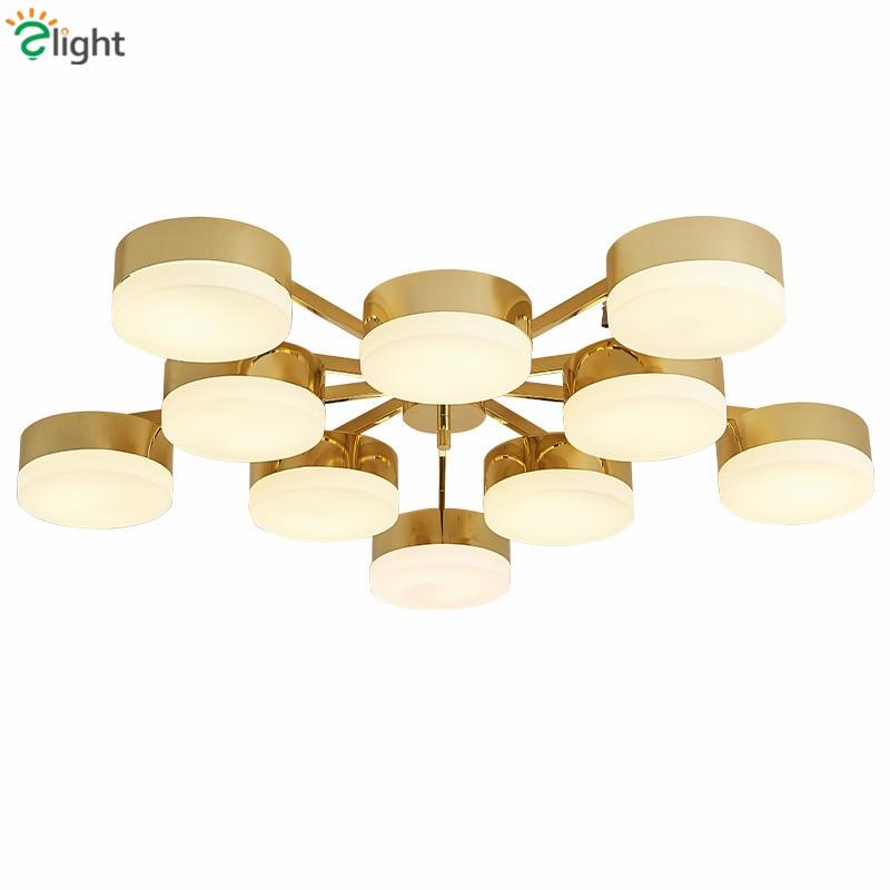 Nordic Plate Gold Metal Led Chandelier Modern Luxury Lustre Ceiling Chandelier Living Room Led Luminaire Chandelier Lighting